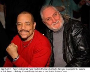 Celebrity Pet Photographer Richie Schwartz and Actor Musician Ice-T